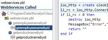 Visual Expert Web Service Calls