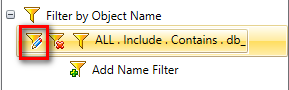 Edit Name Filter for Oracle + SQL Server objects in your project