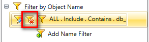 Remove Name Filter for Oracle + SQL Server objects in your project
