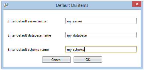 Default DB Items