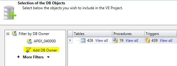 select db objects