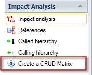 Generate a CRUD matrix in Visual Expert
