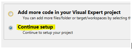 Continue Visual Expert project Setup