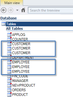List of Oracle or SQL Server Duplicated Tables