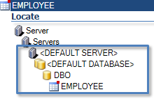 locate a table in oracle or sql server schema database and server