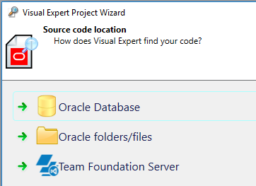 Source of Oracle source code analysed with Visual Expert