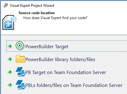 Select PowerBuilder Code to analyze