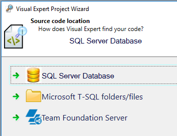 Source of SQL Server source code analysed with Visual Expert