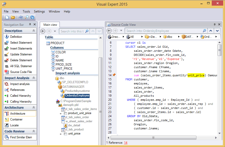 PB + PL/SQL Code Analysis with Visual Expert