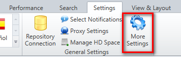 Open More Settings Tab for Naming Conventions