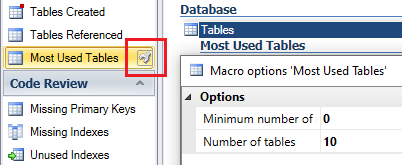 identify most used tables in VE