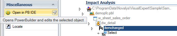 Open PowerBuilder object, function or event in PB IDE from Visual Expert Treeview