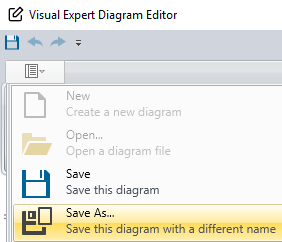 Save a diagram as editable file
