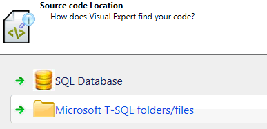 Select SQL Server and T-SQL Code with files or Database connection