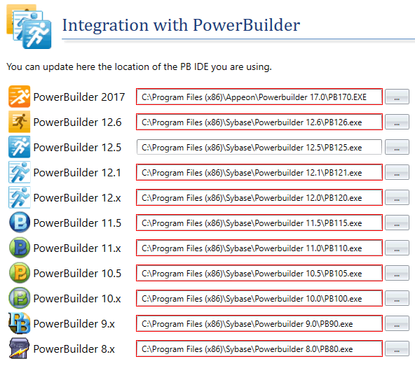 Integration with PowerBuilder