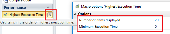 Customize Visual Expert execution time results