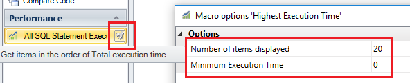 Customize the results of SQL Statement Execution time results
